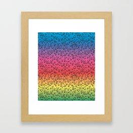 Rainbow Goo Framed Art Print