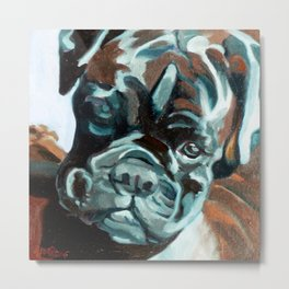 Smokey the Boxer Dog Metal Print