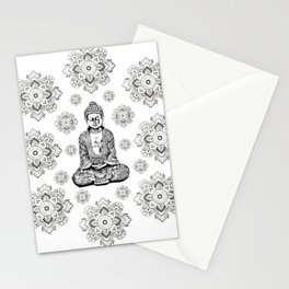 Buddha, HOME DECOR,with hand-painted Mandala Clouds,iPhone case,iPhone cover,iPhone skin,Laptop skin Stationery Cards