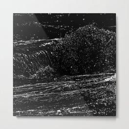 surf detail drawing, white on black Metal Print