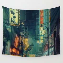 Tokyo Nights / Memories of Green / Blade Runner Vibes / Cyberpunk / Liam Wong Wall Tapestry