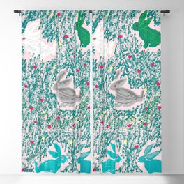 painting for kids-the hares Blackout Curtain