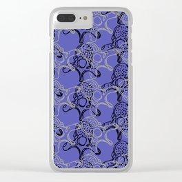 Vertebrae duo pattern in dark periwinkle Clear iPhone Case