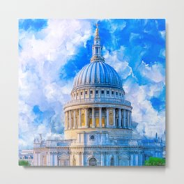 London - The Dome Of St Paul's Cathedral Metal Print