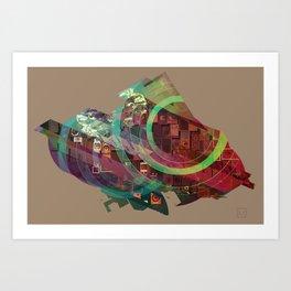 Shaped Bird Art Print
