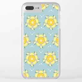 Summer Citrus and Blossoms Clear iPhone Case