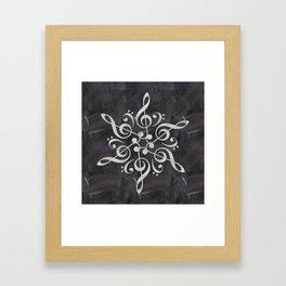 Sol key mandala on chalk Framed Art Print
