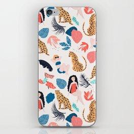 Tropical girls and Cheetah iPhone Skin