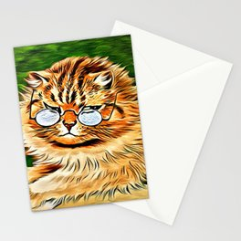 ORANGE TABBY CAT - Louis Wain's Cats Stationery Cards