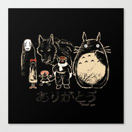 Tribute for Miyazaki Canvas Print