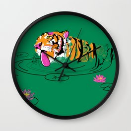 Tigar Lily Wall Clock