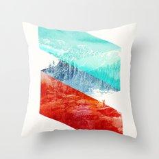 Mountain Stripes Throw Pillow