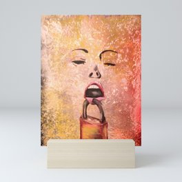 woman scream Mini Art Print