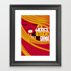 Sometimes the Smallest is the Greatest. Framed Art Print