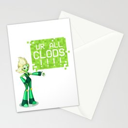 UR ALL CLODS!!!! Stationery Cards