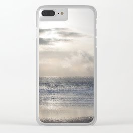 Silver Scene ~ Ocean Ripple Effect Clear iPhone Case