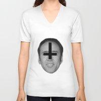 nicolas cage V-neck T-shirts featuring Nicolas Cage // FA$HION by Jared Cady