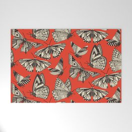 summer butterflies fire Welcome Mat