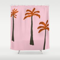 palms Shower Curtains featuring Palms by Georgiana Paraschiv