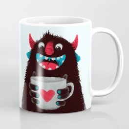 Demon with a cup of coffee (contrast) Coffee Mug