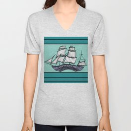 Oh, Ship. We're Going Down Unisex V-Neck