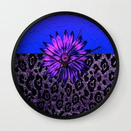Purple Animal Print and Medallion Wall Clock