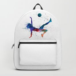 Woman soccer player 08 in watercolor Backpack