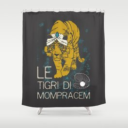 Books Collection: Sandokan, The Tigers of Mompracem Shower Curtain