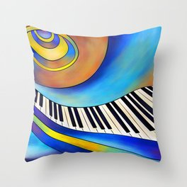 Redemessia - spiral piano Throw Pillow