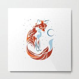 Tribal tail fox T-shirt graphic design Tshirt Metal Print
