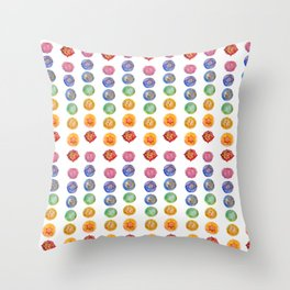 Seven Chakra alligned Watercolor art Throw Pillow