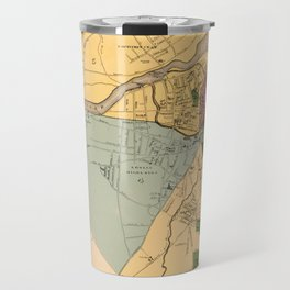 Map Of Lowell 1881 Travel Mug