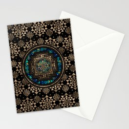 Sri Yantra  / Sri Chakra Marble and Gold Stationery Cards