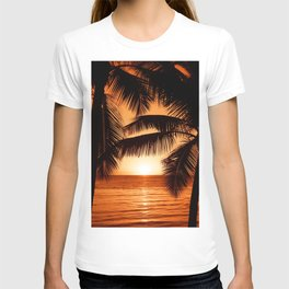 Perfect Palm Sunset (Color) T-shirt
