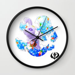 'You Cracked the Egg' Series - Easter Angelic Bunny Wall Clock