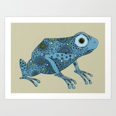 Little blue frog Art Print