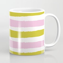 Pink and Green Stripe Coffee Mug