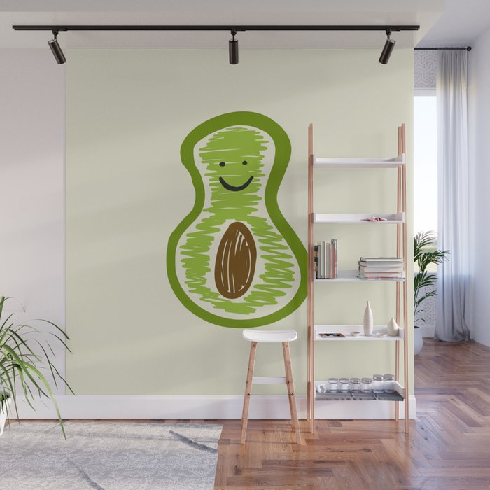Smiling Avocado Food Wall Mural