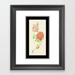 Elegant Kitty Silhouette Sandy Framed Art Print