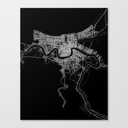 New Orleans map Canvas Print