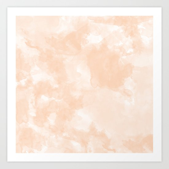 Peachy Watercolor Art Print