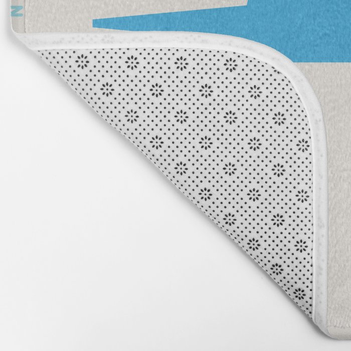 Shapes of San Francisco. Accurate to scale Bath Mat