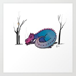 Let Sleeping Dragons Lie Art Print