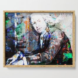 Bach Composer Musician Collage Portrait Serving Tray