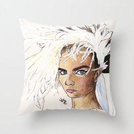 Delevingne Throw Pillow