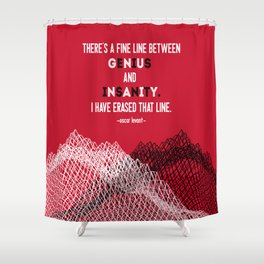 Oscar Levant Quote Shower Curtain