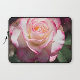 Pink and White Rose with a little magic Star Dust Laptop Sleeve
