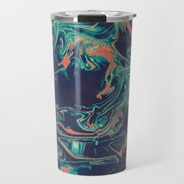 Adrift - Abstract Suminagashi Marble Series - 05 Travel Mug