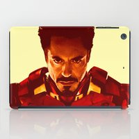 robert downey jr iPad Cases featuring Iron Man *** by Hands in the Sky
