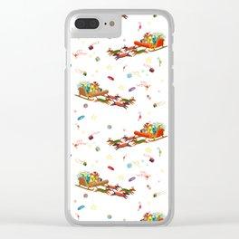 Dachshund open sleigh Clear iPhone Case